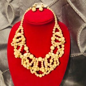 Beautiful Beaded Statement Necklace and Earrings